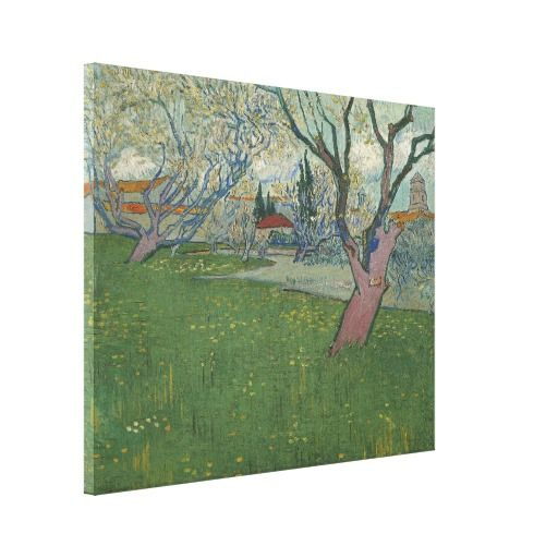 Orchards in Blossom View of #arles by #vincent Van Gogh #Stretched #canvas #Prints, high resolution #art #print on cotton-poly blend gloss canvas #vangogh #painting #orchard