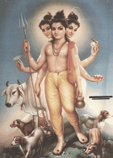 Lord Dattatreya Trinity Wallpaper-guru datt-guru-giranar-girnari-parikrama: