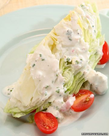 Blue cheese dressing, Blue cheese and Wedges on Pinterest