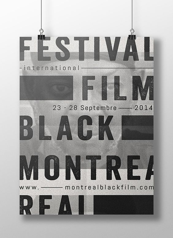 poster   Montreal International Black Film Festival 2015 by Sarah Dufour #typography