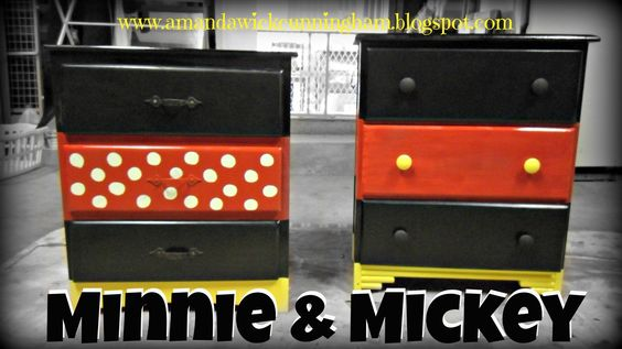 Kaleidoscope of Colors: DIY: Mickey and Minnie Dressers
