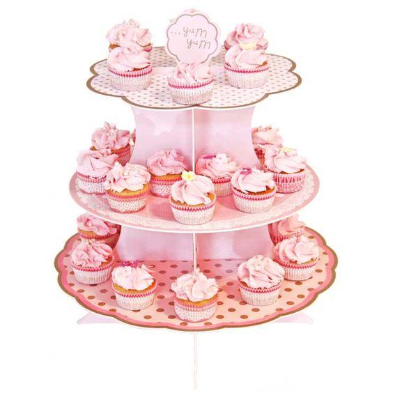 Etagere für Cupcakes Candy Bar Muffins oder Gastgeschenke Pappe
