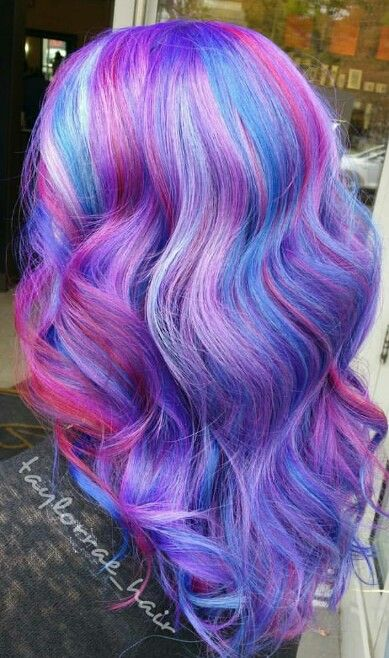 Purple dyed hair color dyed hair pastel hair for Bright pretty colors