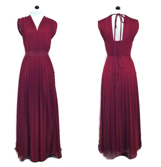 1970s Grecian Goddess Style Evening Dress by willynillyvintage