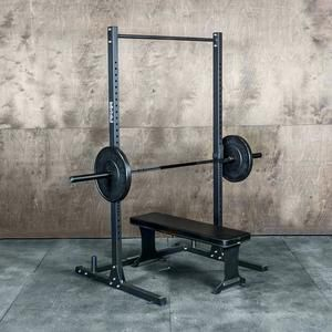 squat rack with pull up bar garage
