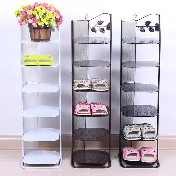 $266.95 (Buy here: http://appdeal.ru/fyo4 ) Continental Iron floor full translation shoe rack simple multi- layer slippers storage angle bracket for just $266.95