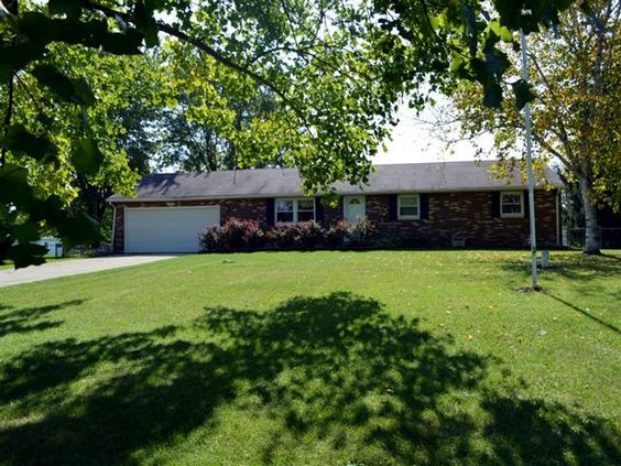A beautifully maintained and well loved brick ranch in the Knolls Subdivision.  Awesome  Amish built custom kitchen cabinets. 3 bedrooms and a gorgeous setting  with a large lot that is fully fenced.  A 20x40 ft. inground pool with a pool house for storage and dressing room.  Covered patio  Wood burning stove in family room.  Lots of storage.