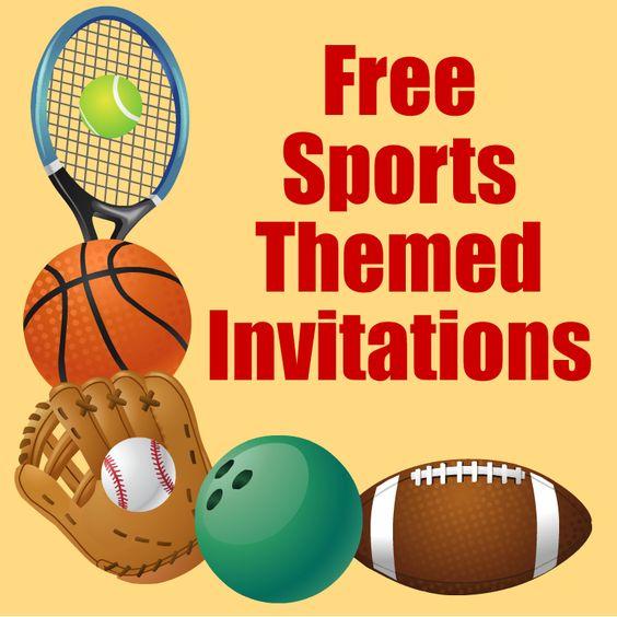 Free Printable Sports Birthday Party Invitations Templates – Sports Themed Birthday Invitations
