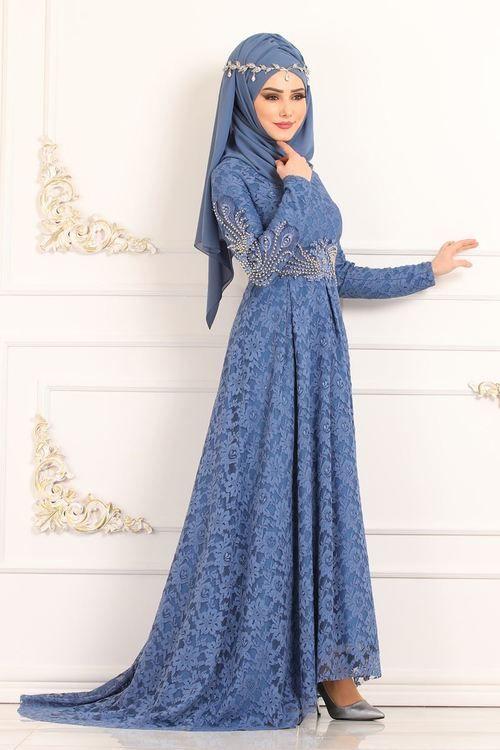 Modaselvim Abiye Inci Detay Kuyruklu Dantel Abiye 5148ay342 Mavi Elbise Elbise Modelleri Basortusu Modasi