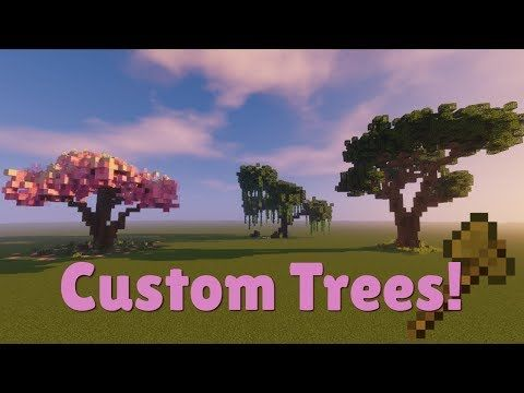 How To Build A Willow Tree Oak Tree And Sakura Tree In Minecraft This Video Requires Worldedit Although I M Sure Minecraft Tree Minecraft Minecraft Garden