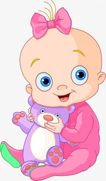 Little Girl Holding A Teddy Bear Free Pull Cartoon Baby Girl Png Transparent Clipart Image And Psd File For Free Download Baby Cartoon Cute Baby Cartoon Baby Painting