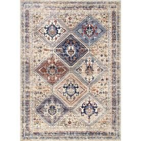 Nuloom Ivory Indoor Vintage Area Rug Common 7 X 9 Actual 7 5