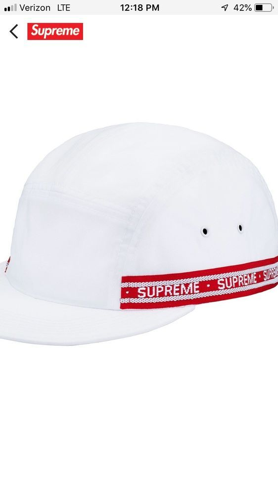 cee0d3a837c Supreme Tonal Tape Camp Hat FW 18 Box Logo Nylon !SOLD OUT!  fashion   clothing  shoes  accessories  mensaccessories  hats (ebay link)
