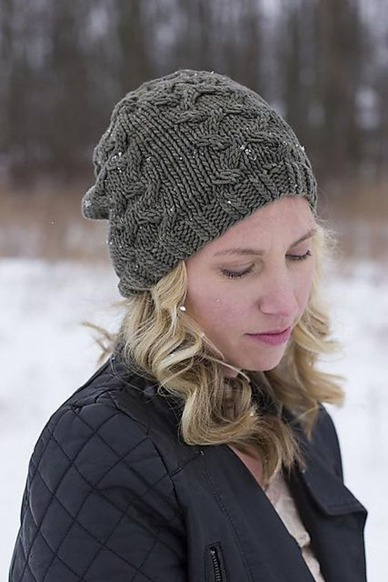 Grey ladies hat