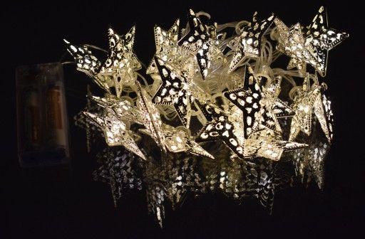 Metalowe Lampki Led Na Choinke Gwiazdki Swiecace 3 7020064721 Oficjalne Archiwum Allegro Ceiling Lights Decor Light