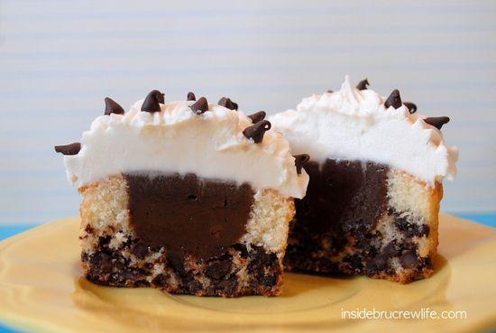 Chocolate Chip Nutella Cheesecake Cupcakes - Recipe Detail - BakeSpace.com