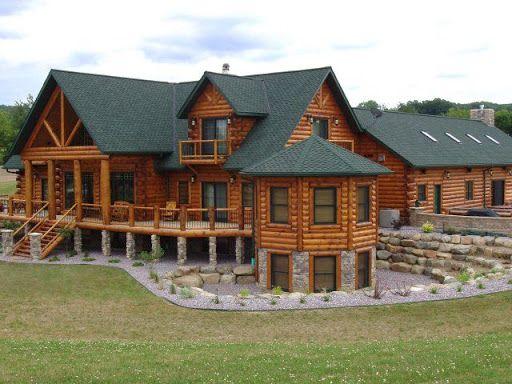 Log Cabins Log Home And Log Mansions Exterior Pictures Log Homes Exterior Log Cabin House Plans Log Home Plans