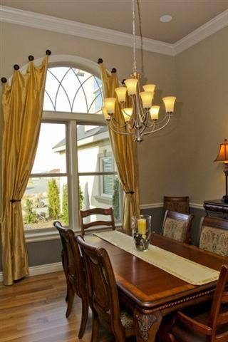 Curtains Ideas curtains for oval windows : Window treatment made by adding fabric to the bottom of a shower ...