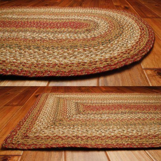 Mustard Seed Jute Braided Rugs By Homespice Decor Braided Area Rugs Braided Rugs Braided Jute Rug