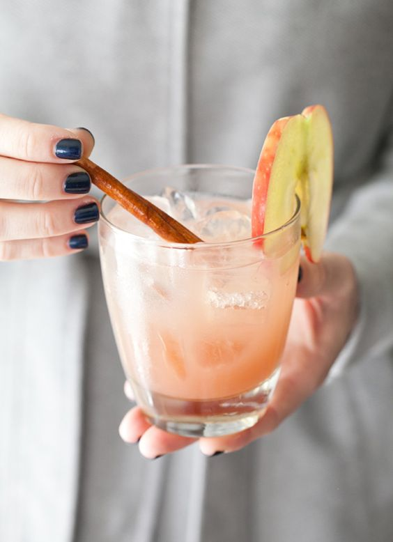 Whip up Apple Cider Cocktails for fall.: