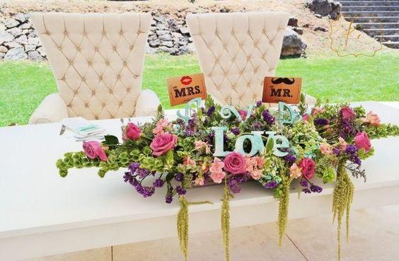 Mesas para novios - Ideas especiales para tu boda