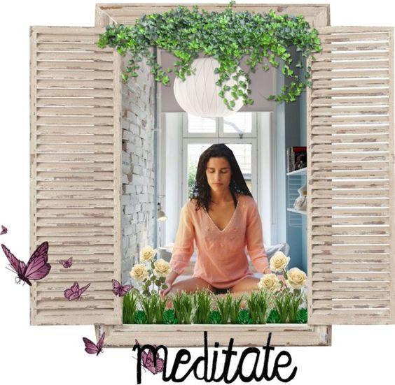"""""""meditate"""" by eddine ❤ liked on Polyvore"""