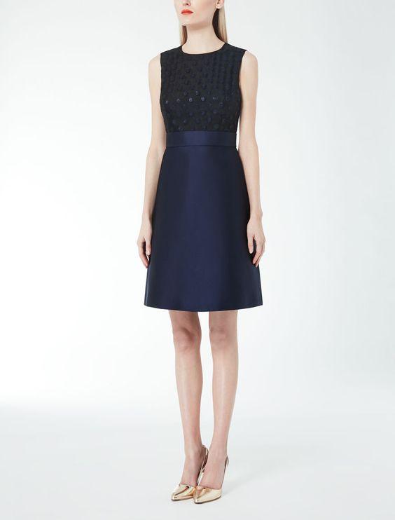 Max Mara KIRIN black: Duchesse and fil coupé organza dress . Find ...