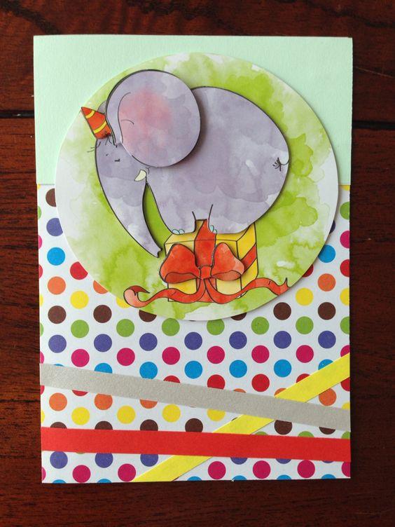 Verjaardagskaartje voor een kind! Birthday card for a child! DIY