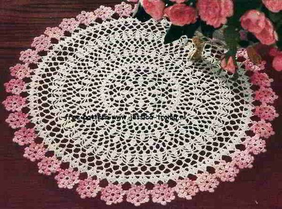 Free beginner centerpiece doily patterns crochet with