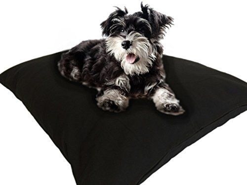 DIY Do It Yourself Durable Tough Black Canvas Pet Dog Bed Pillow Cover Internal Inner Waterproof Resistant Case Set for Small Medium Dogs - COVER\u2026