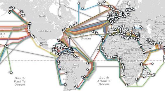 Gaaf! Interactieve kaart van de internetkabels op de zeebodem