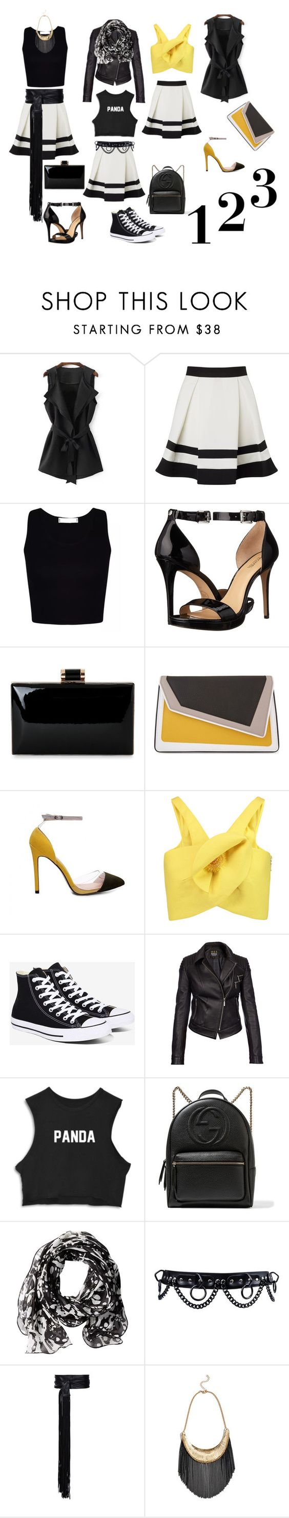"""""""Three Times Is A Charm....."""" by staceyflack ❤ liked on Polyvore featuring Lipsy, MICHAEL Michael Kors, âme moi, Delpozo, Converse, Barbour International, Gucci, Calvin Klein, Alexandre Vauthier and GUESS by Marciano"""
