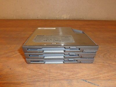 One lot of 3 DELL MPF82E Floppy Drive Module WORKING Free Shipping