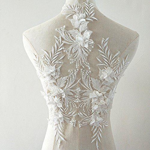 Beaded Flower Sequence Lace Applique Motif Sewing Bridal Https Www Dp B07dthspxs Ref Cm Sw R Pi Dp U Diy Lace Trim Lace Fabric Patches Fashion