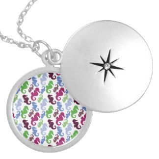 seahorse jewelry | Seahorses Pattern Nautical Beach Theme Gifts Pendant