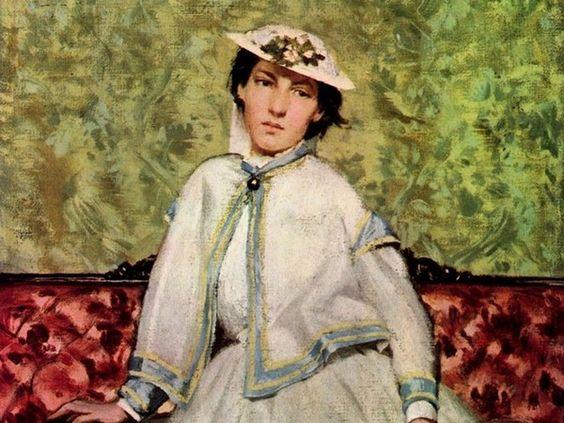 Boldini, Ritratto di Alaide Banti sul divano rosso, 1885. Amica di lunga data…