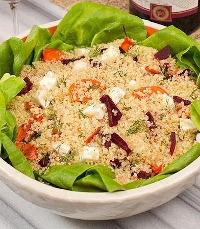 Carrot quinoa salad from Molly Sims