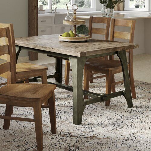 Towne Extendable Solid Wood Dining Table Solid Wood Dining Table