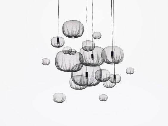 luminárias da farming-net collection.  studio nendo