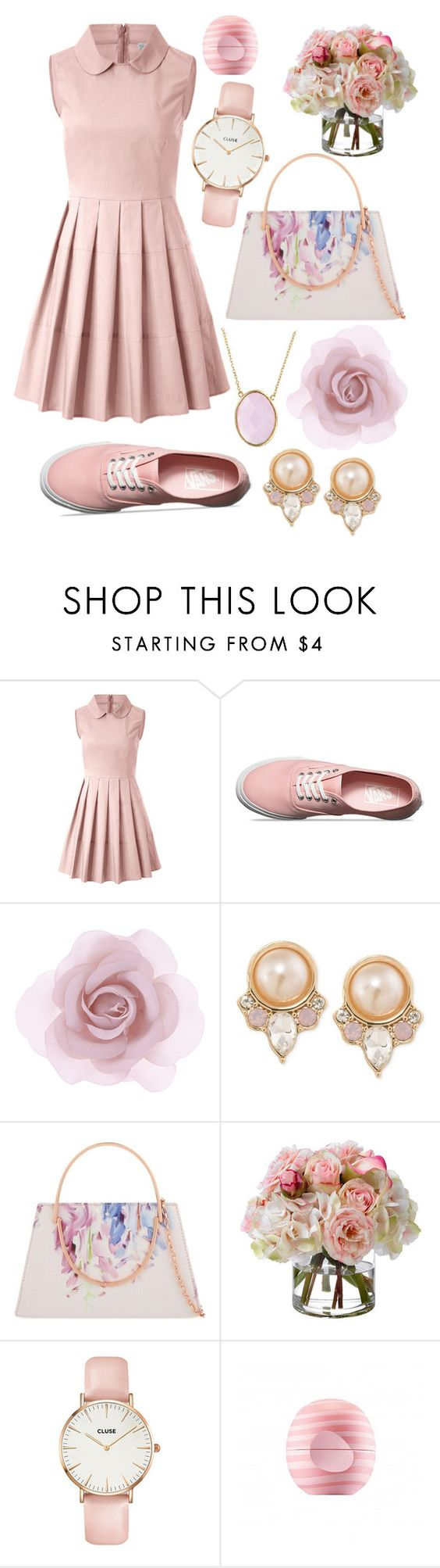 """〰welcoming Spring"" by picking-petals ❤ liked on Polyvore featuring RED Valentino, Vans, Accessorize, Carolee, Ted Baker, Diane James, CLUSE, Eos and Bling Jewelry"