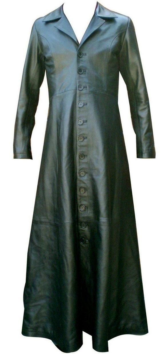 Mens Nappa Leather Long Coat W/Buttons Brand New LLL-128 in Kleidung & Accessoires, Herrenmode, Jacken & Mäntel | eBay