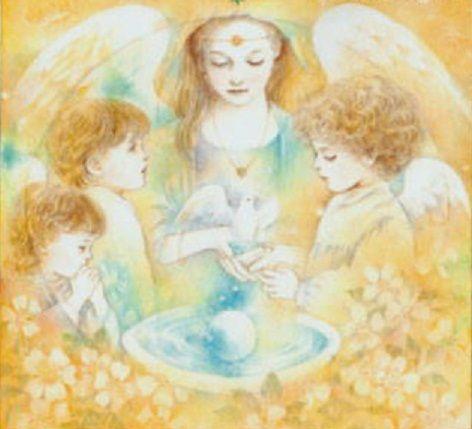 Muestra del trabajo de recopilación de imágenes de la web de seres mágicos y angelicales...