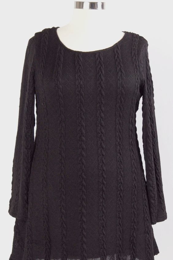 Willa Willa Sweater Dress - Black