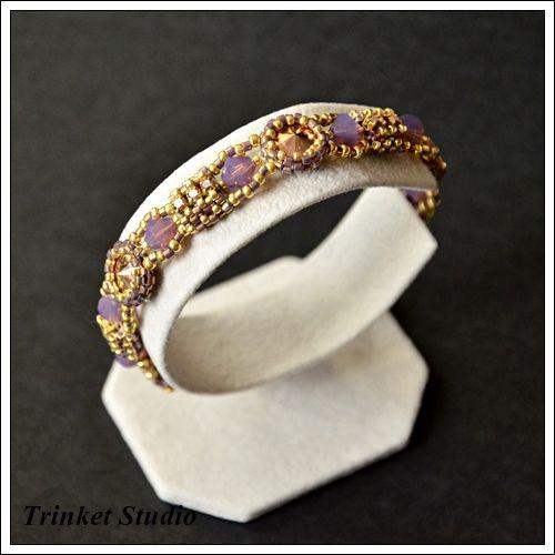 #Earrings,  #TrinketStudio, #Beading, #bracelet , #Swarovski, #peyot , #geometrical, Polandhandmade.pl , #Polandhandmade