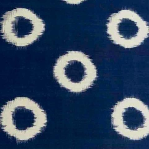 Indigo Ikat Circles tablecloth