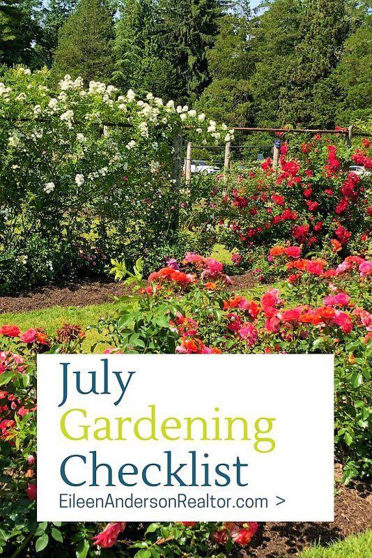 July Gardening Checklist Garden Home Decor Pictures Lawn
