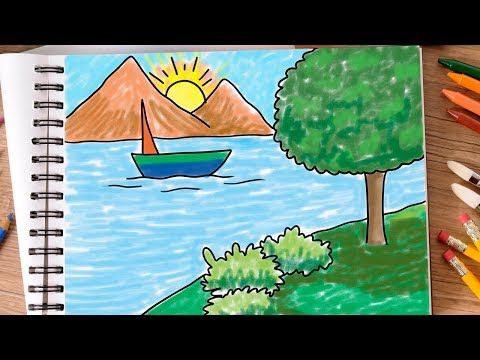 Nature Drawing Color Easy Google Search Drawings Nature Drawing Painting