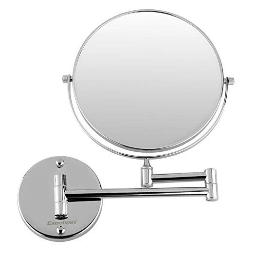 Excelvan 10x Magnification 8 Inch Double Sided Swivel Wall Mount Makeup Mirror 12 Inch Extension P Mirror Wall Wall Mounted Makeup Mirror Antique Mirror Wall