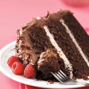 Hoping to make a cake with my mom this weekend for my birthday. This recipe looks perfect!    Raspberry Chocolate Cake Recipe