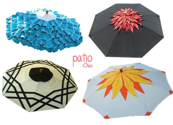 Cutest Patio Umbrellas EVER